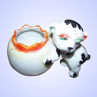 Figural  H.P. Ceramic Bonzo The  Dog Cache Pot Made In Japan