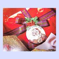 Ho Ho Ho The Carl Co. Celluloid Santa Claus Christmas Xmas   Advertising Pinback