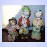 Trio 3  Musician Figurines Japan And Occupied