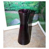 "Pretty Purple Glass Vase 5 3/4"" Tall"