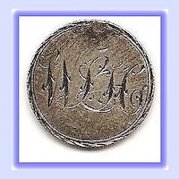 Sentimental Decorative Love Token on 10 Cent Canadian Coin