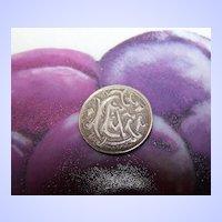 """Sentimental Engraved EEA"""" Love token  Canada Victorian Silver Coin"""