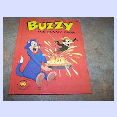 Childrens Book Wonder Books Buzzy The Funny Crow  C. 1963