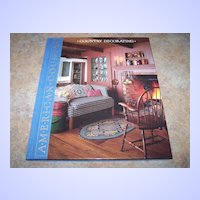 """H.C. Book American Country """" Country Decorating """" C. 1988"""