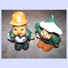 Cute Hand Painted  Figural Bug Salt & Pepper Shakers