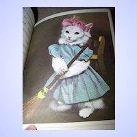 "A Collectible Rand McNally Elf Book "" Little Friends "" Animals Playing Dress - Up"