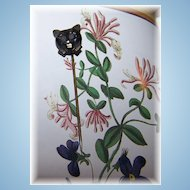 What A Charming Vintage Meow Kitty Cat Stick Pin