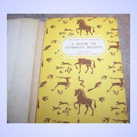 "H.C. Book "" A Book Of  Common Beasts "" Oxford University Press C.1940"