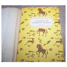 """H.C. Book """" A Book Of  Common Beasts """" Oxford University Press C.1940"""
