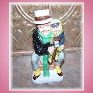 Wood & Sons Franklin Porcelain Toby Jug Bob Cratchit & Tiny Tim