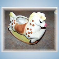 Figural Pottery Rocking Horse Sugar or Planter