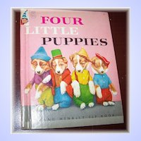 Four Little Puppies Rand McNally Children's Book Harry Whittier Frees