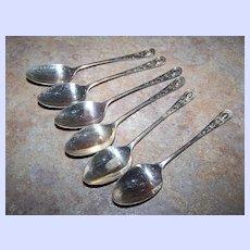 6  Vintage Demi Tasse Spoons Stamped A1 SEPNS