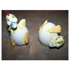 Cracked Eggs Hatched Chicks Salt & Pepper Shakers