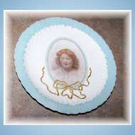 Sentimental Memorial Portrait Plate M.R. France