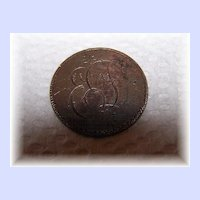 "Large Cent 1"" Sentimental Love Token Coin Engraved ED"