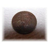 "Large Cent 1"" Sentimental Love Token Coin Engraved ED"