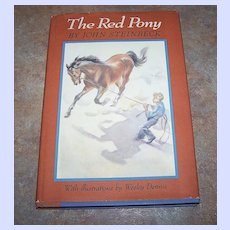 The Red Pony H.C. Book By John Steinbeck C.1973