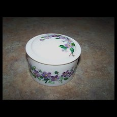Vintage Hand Painted Beetleware Covered Pot Violet Motif