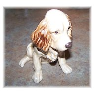 Woof Woof A Charming Sylvac Pottery England Spaniel Puppy Dog Figurine # 18