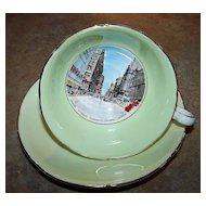 Royal Grafton Historical Tea Cup & Saucer Yonge St. Toronto , Ontario Canada