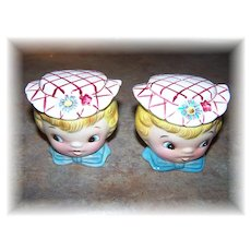 Vintage Ceramic Dainty Miss Salt & Pepper Set Japan