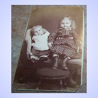 Vintage CDV Photograph Charming Children