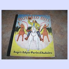 """A Charming Vintage Book Titled """" Buffalo Bill"""" C. 1952 Lithographed U.S.A."""