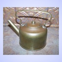 Wonderful Vintage Brass Kettle Holds 2 Cups