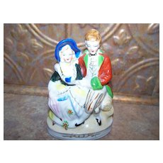 Made In Japan Hand painted Ceramic Colonial Couple Figurine