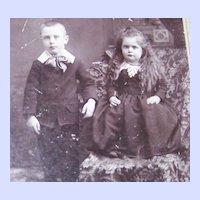 Vintage Photograph Charming Children Shelbyville , Ind.