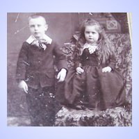 Vintage Photograph Charming Children Shelbyville , Ind.