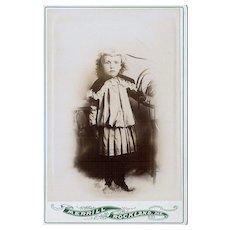 Charming Vintage Cabinet Card Little Boy Child Merrill Rockland ME