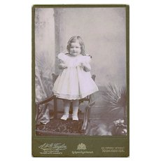 Cabinet Card Featuring Charming Little Mary Gleeson