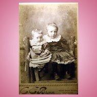 Charming Vintage Cabinet Card Serious Little Children