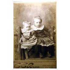 Charming Vintage Cabinet Card Serious Little Children