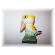 Vintage Foreign Ceramic Figural Sweet Bird Egg Cup