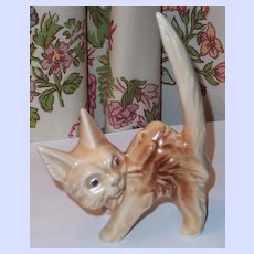 Brown Sylvac Scared cat Figurine 1046 ~^..^~~^..^~~^..^~