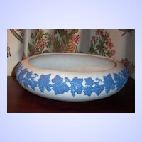 Emery-1926  Jasperware ECanada Art Pottery White & Blue Bowl