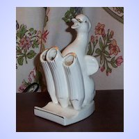 Ceramic Duck Toothbrush Holder / Tube Tray Japan