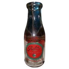 ADVERTISING ACL Palm Dairy Sudbury Ontario Glass Mik Bottle