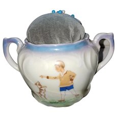 Charming Porcelain  Pin Cushion Bavaria