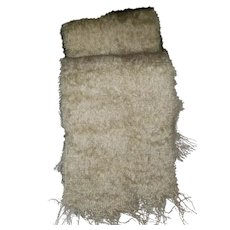 Gently Used Vintage Fringed Scarf Mohair Wool MI Scotland