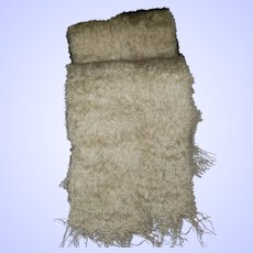 Gently Used Vintage Fringed Scarf Mohair Wool MI Scotland