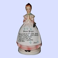 Vintage Ceramic Dinner Prayer Lady Napkin Holder Japan