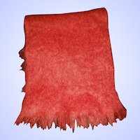 Lovely Pre-Owned Salmon Pink Fringed Mohair Scarf