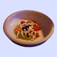 Vintage Ceramic Children's Porridge Cereal Bowl