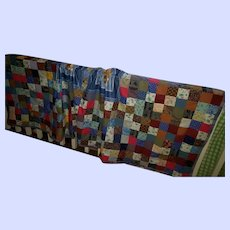 Beautiful  Hand Made Machine Sewn Patchwork Blanket Quilt Style Dog Theme