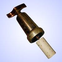 Vintage Metalware  Brass Barware Corkscrew