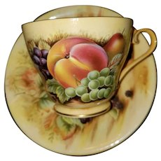 Lovely Quality Aynsley Orchard Gold Tea Cup Saucer Set MI England
